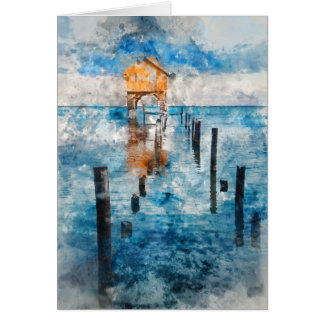 Home on the Ocean in Ambergris Caye Belize Card