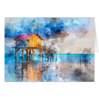 Home on the Ocean in Ambergris Caye Belize_ Card