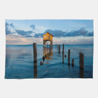 Home on the Ocean in Ambergris Caye Belize Kitchen Towel