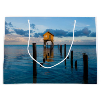 Home on the Ocean in Ambergris Caye Belize Large Gift Bag