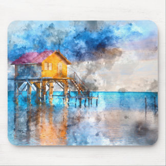 Home on the Ocean in Ambergris Caye Belize_ Mouse Pad