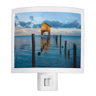 Home on the Ocean in Ambergris Caye Belize Night Lite