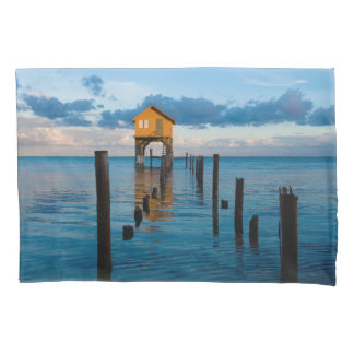 Home on the Ocean in Ambergris Caye Belize Pillowcase