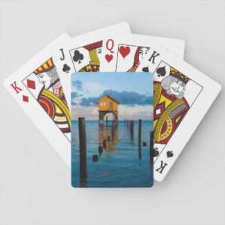 Home on the Ocean in Ambergris Caye Belize Playing Cards