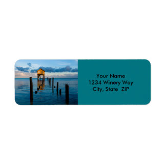 Home on the Ocean in Ambergris Caye Belize Return Address Label
