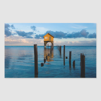 Home on the Ocean in Ambergris Caye Belize Sticker