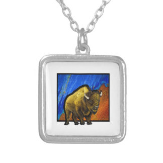 Home on the Range Silver Plated Necklace