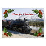 Home on the Train for Christmas Card