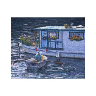 """Home On the Water"" Gallery Wrapped Canvas Print"