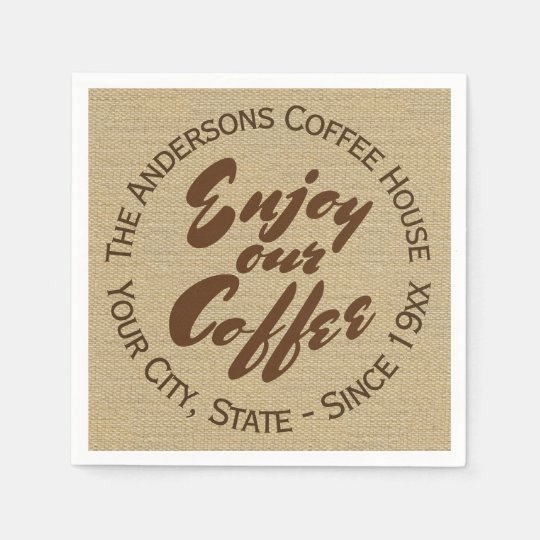 Home or Business Coffee Shop Disposable Napkins
