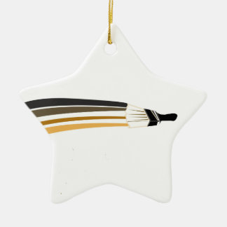 Home Painting | Artist Paint Brush Ceramic Ornament