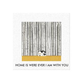 Home photo canvas print