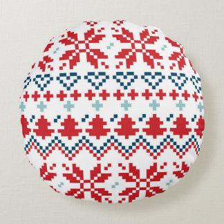 Home pillow with Folk pixel art