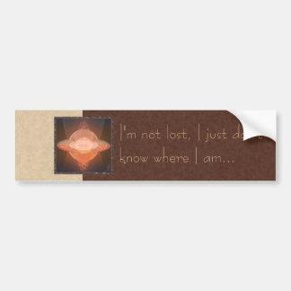 Home Planet Abstract Art Bumper Sticker