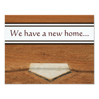 "Home Plate We've Moved Address Contact Cards 4.25"" X 5.5"" Invitation Card"