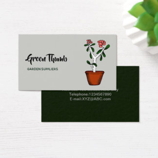 Home Potted Plants Doodle Art Business Card