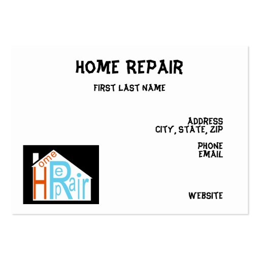 Home repair business cards zazzle for Home repair business cards