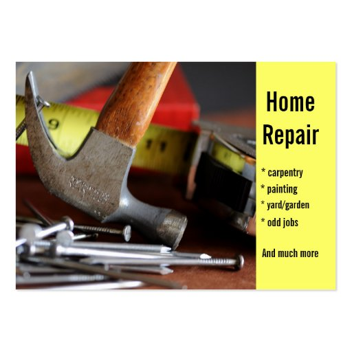 Home repair carpentry painting zazzle for Home repair business cards