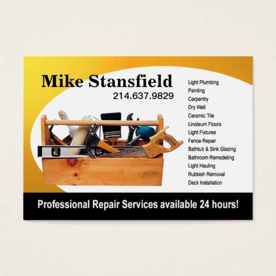 Home Repair Handyman Business Card Zazzleca