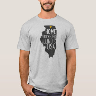 Home: Rockford Illinois USA T-Shirt