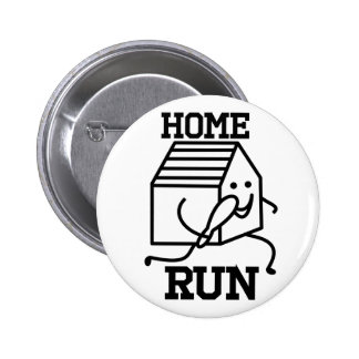 'Home Run' Badge 2 Inch Round Button