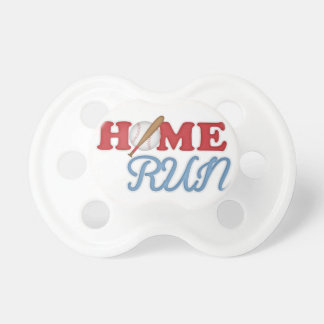 Home Run Baseball Boy Sports Bat Ball Red Blue Baby Pacifier
