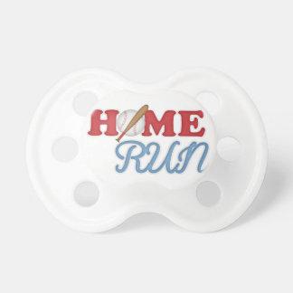 Home Run Baseball Boy Sports Bat Ball Red Blue Pacifier
