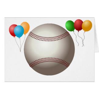 Home Run Game Team Coach Sports Ball Fun Baseball Greeting Card