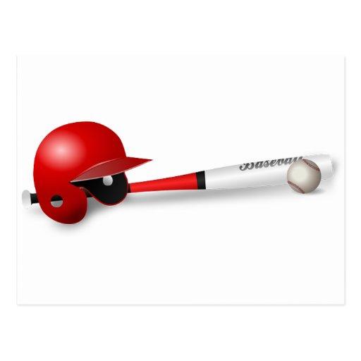 Home Run Game Team Coach Sports Ball Fun Baseball Post Cards