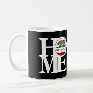HOME San Francisco 11oz Black Basic White Mug