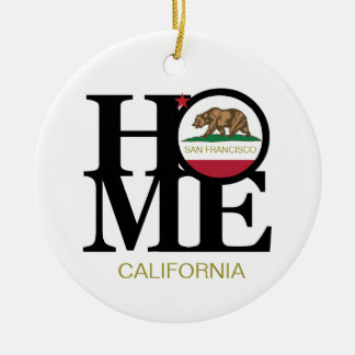 HOME San Francisco California Porcelain Ornament