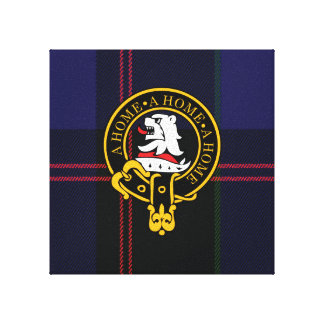 Home Scottish Crest and Tartan Canvas print