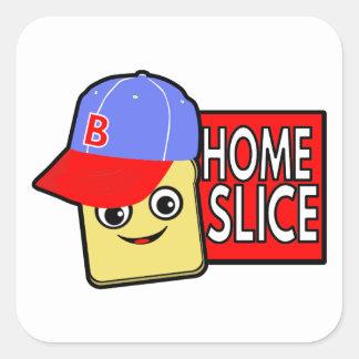 Home Slice Square Sticker