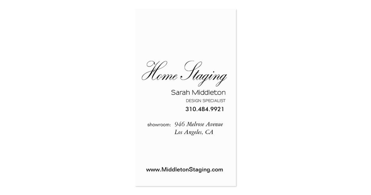 Home Staging Interior Design Realtor Business Card Zazzle
