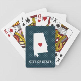 Home State Artwork with City Option - Alabama Poker Deck