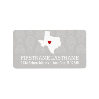 Home State Map Art - Custom Name Texas Label