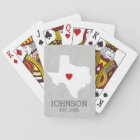 Home State Map Art - Custom Name Texas Playing Cards