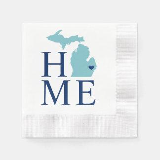 Home State of Michigan | Custom Heart Paper Napkin