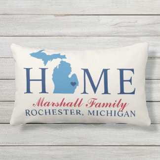 Home State of Michigan | Custom Outdoor Pillow