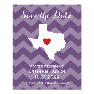 Home State Wedding Save the Date Texas Custom Flyer