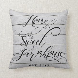 Home Sweet Farmhouse Shiplap Throw Pillow