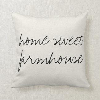 Home Sweet Farmhouse   Throw Pillow