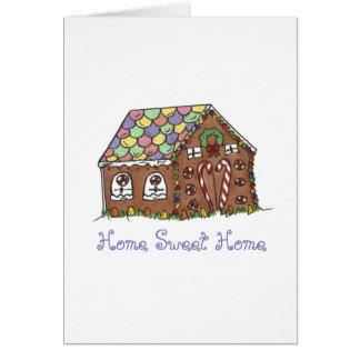 Home Sweet Gingerbread House Housewarming Card
