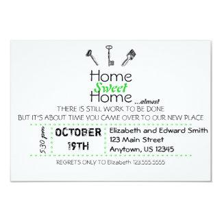 "Home Sweet Home 3.5"" X 5"" Invitation Card"