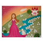 Home Sweet Home - 8x10 Princess Castle Kids Art Poster