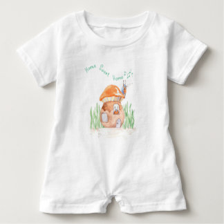 """Home Sweet Home""  Baby Romper"