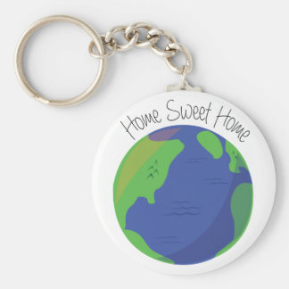 Home Sweet Home Basic Round Button Keychain