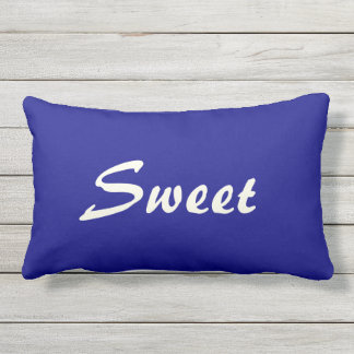 Home Sweet Home Blue and Beige Throw Pillow
