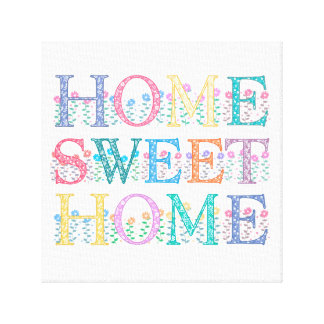 "'Home Sweet Home' Canvas 12""x12"" Gallery Wrapped Canvas"