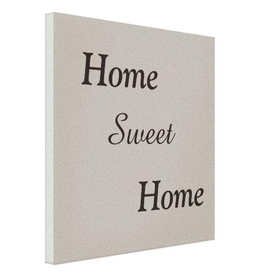 Home sweet home, canvas print, home decor